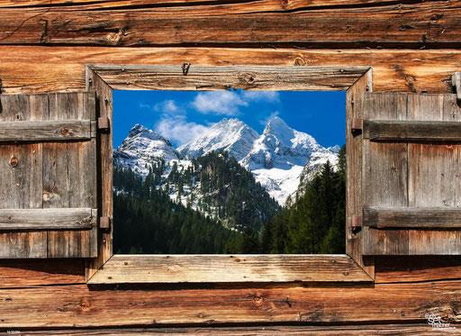 """""""Berghütte mit Alpenpanorama"""" SKU: 16_33_006"""
