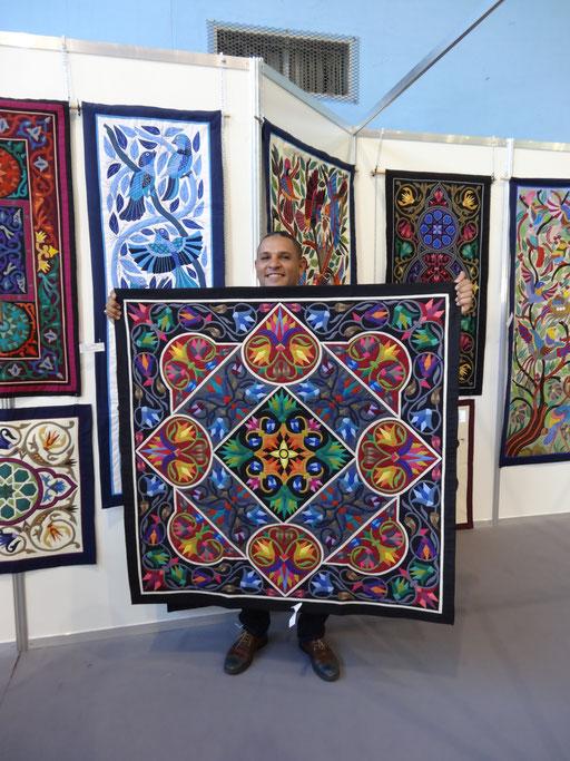 Al farouk tentmakers of Cairo. à la Fête du Fil 15 août 2016 Labastide Rouairoux (tarn-81270) FRANCE