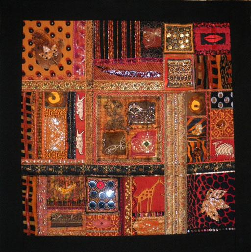 Odile TEXIER, artiste textile. Exposition 2015 Fête du Fil Labastide Rouairoux (tarn-81270) FRANCE