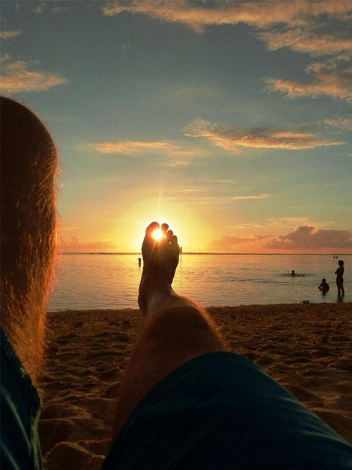Coucher de soleil à l'Ermitage.....c'est vraiment le pied !