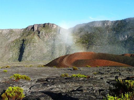 Cratère Formica-Leo depuis l'enclos Fouqué