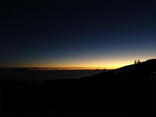Soleil levant au Volcan