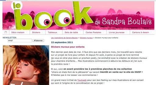 Sandra Boulais concrétise l'idée de Cloé Perrotin avec la société iDzif : ses illustrations seront en stickers et autres produits dérivés.