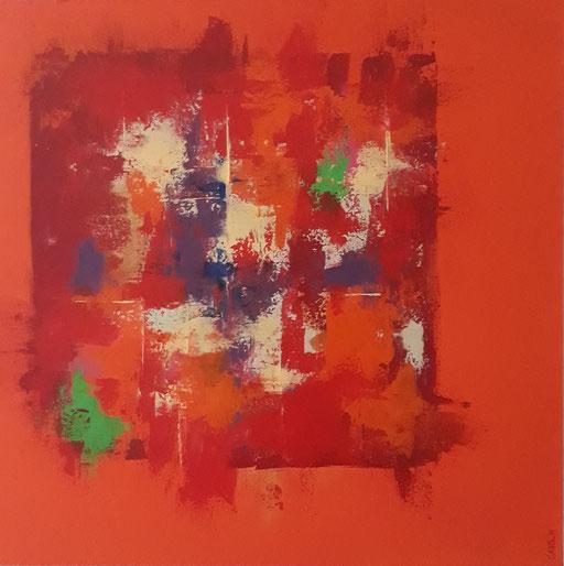 Orange, 60x60 cm