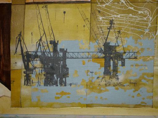 Waterkant I Textilsiebdruck (50x40) 325 Euro