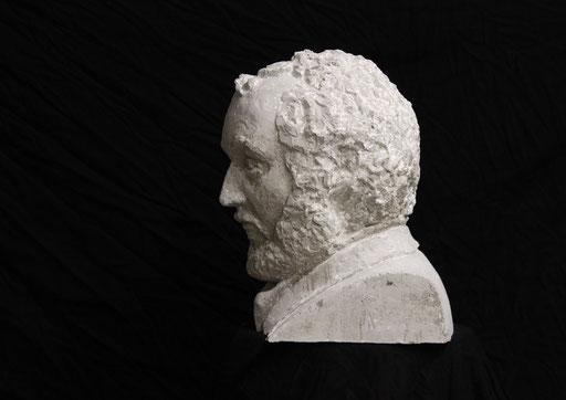 Christian Feig, Kubrick, 2013, aus der Serie: Movie Masters (Meister des Films), Beton, 40 x 29 x 31 cm