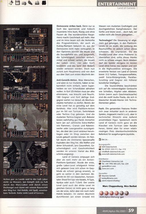 AmigaPlus Review - Ausgabe 6/2001