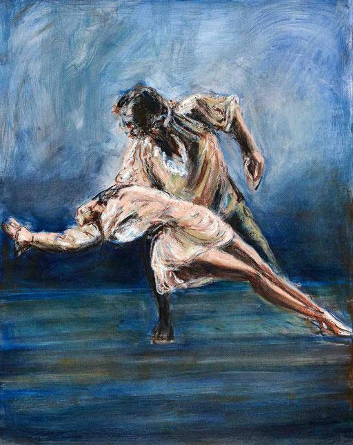 Abandon, peinture à l'huile, 164x114cm