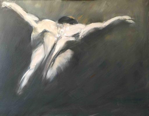 L'aigle fier, Huile sur toile, 146x114 cm
