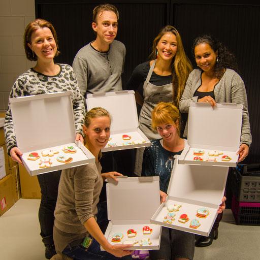 Workshop koekjes decoreren deelnemers
