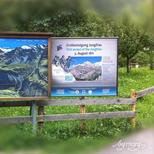 Zeichnung für Tafelgestaltung Erstbesteitgung Jungfrau, www.kreativearbeiten.ch