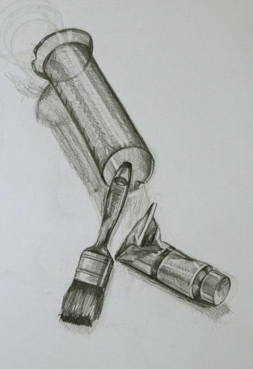 Bleistiftzeichnung 50 x 70 cm