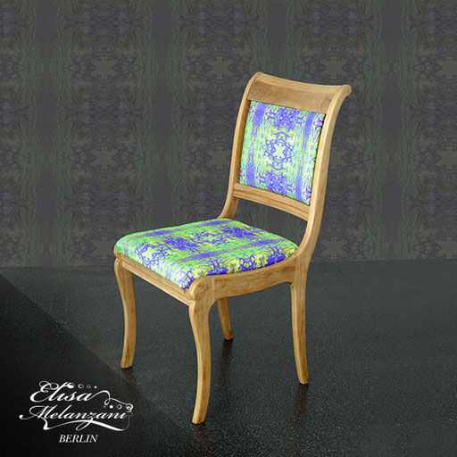 Design -golden kingsuite- Kollektion: TREASURY olivine - Polsterstoff © ELISA MELANZANI BERLIN