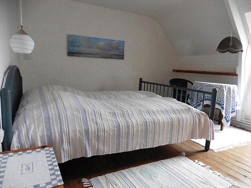 Blaues Schlafzimmer im Obergeschoss