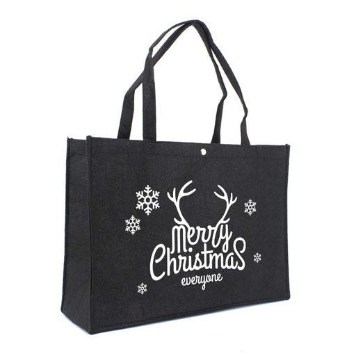 Weihnachtstaschen schwarz aus Filz
