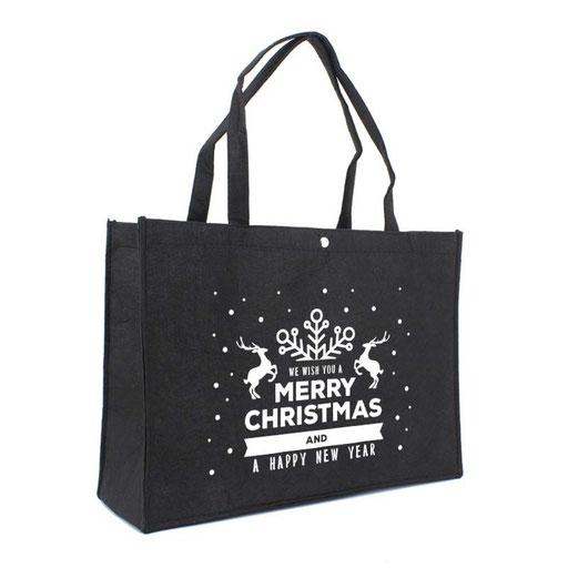 Filztasche Weihnachten in schwarz