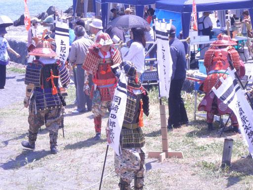 武者行列には、保存会の皆様が出陣していました。