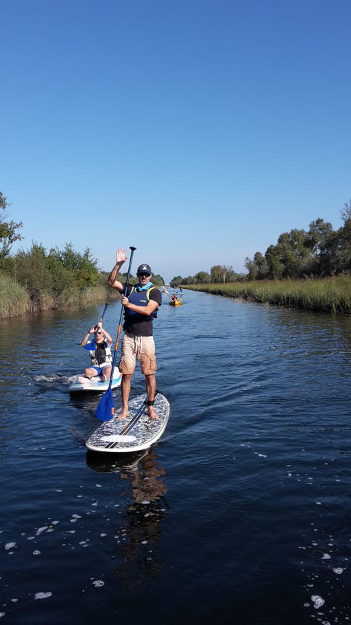 Balades en Stand up paddle à Carcans Maubuisson