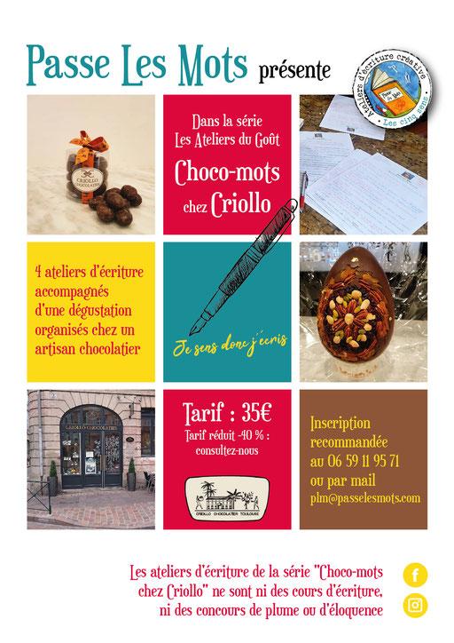 Affiche et flyer Ateliers d'écriture avec Passe Les Mots (Toulouse)