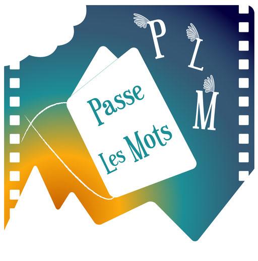 Logo vectorisé de Passe Les Mots - Ecriture et pièces théâtrales pour présenter de grands classiques du cinéma//Toulouse et Normandie