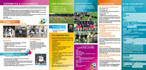 Brochure 3 volets A4 - Stage de foot 2014 Redon Brécey