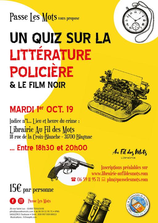 Affiche et flyer Quiz avec Passe Les Mots (Toulouse)