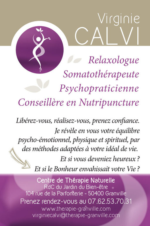 Flyer therapie-granville.com - Virginie CALVI