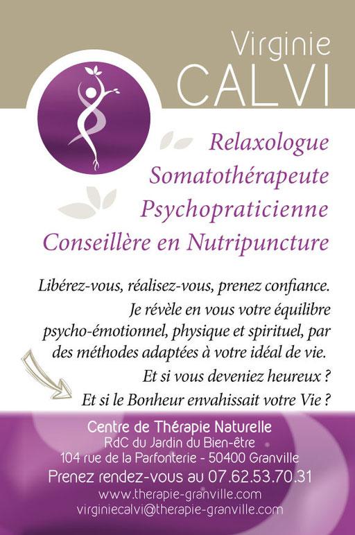 Flyer therapie-granville.com - Virginie CALVI