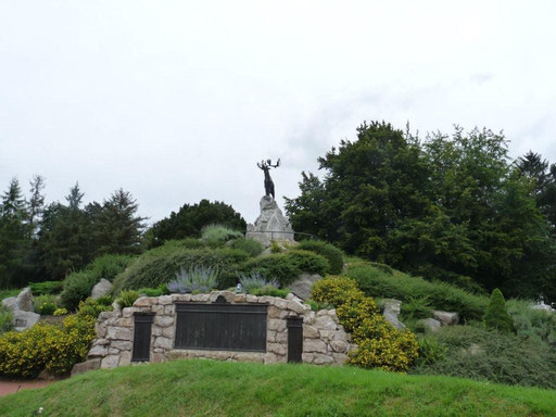 Le site Terre-Neuvien de Beaumont-Hamel avec le Caribou.