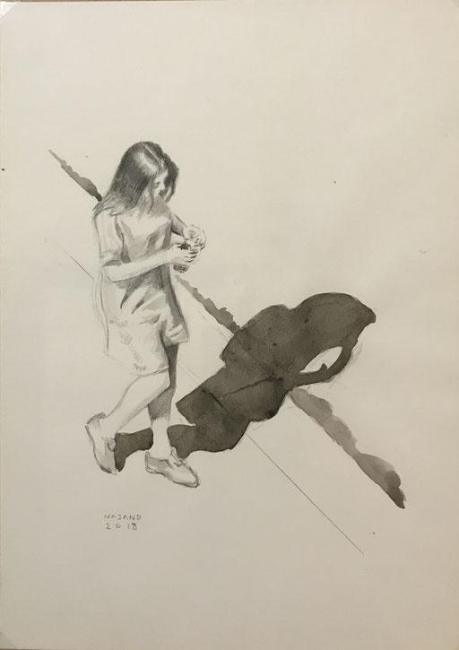 Mehrzad Najand - Graphite et aquarelle -2018