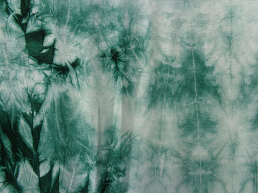 Bambus Jersey Batik, forrest green