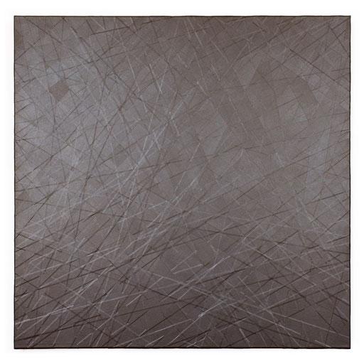 O.T., 2018, Reparaturband auf Leinwand, 100 x 100 cm