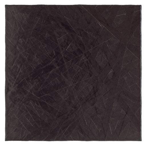 O.T., 2018, Reparaturband auf Leinwand, 50 x 50 cm