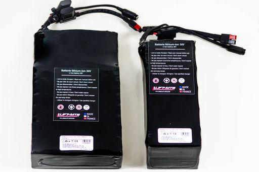 Batterie 14 Ah au format plate et carrée.