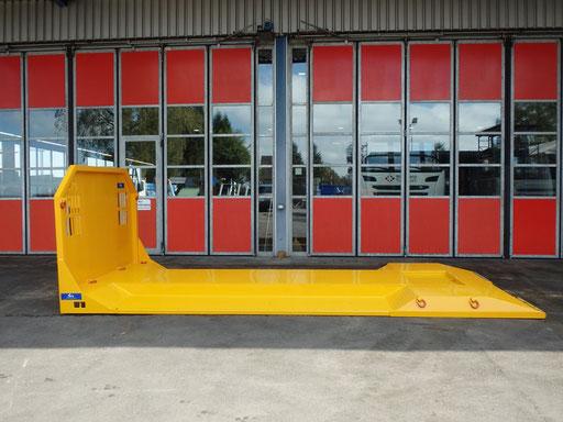 Transportplattform für Bagger Hakenlift