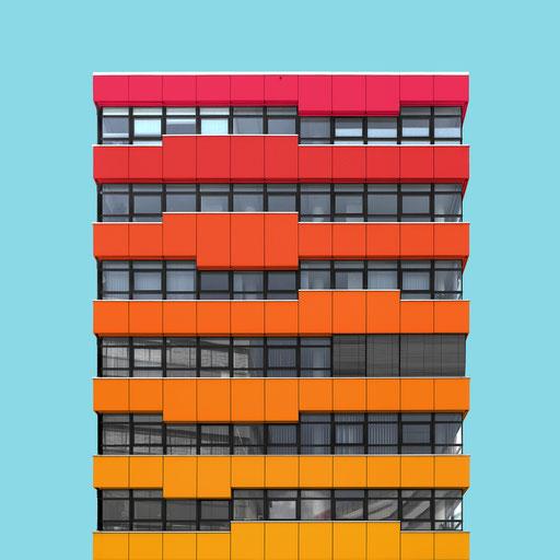 rectangular facade - Vienna