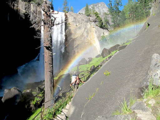 Nevada Fall, up to Little Yosemity, Sierra Nevada - California