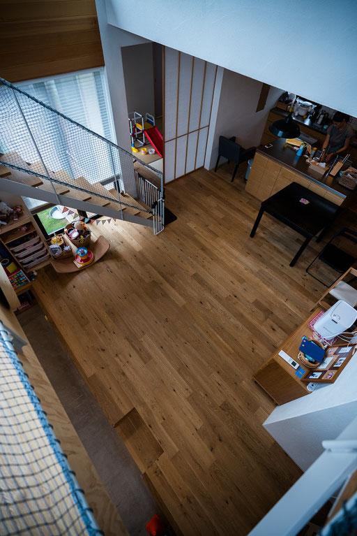オーク 120幅 フローリング andwood 施工例 タンタブル一級建築士事務所