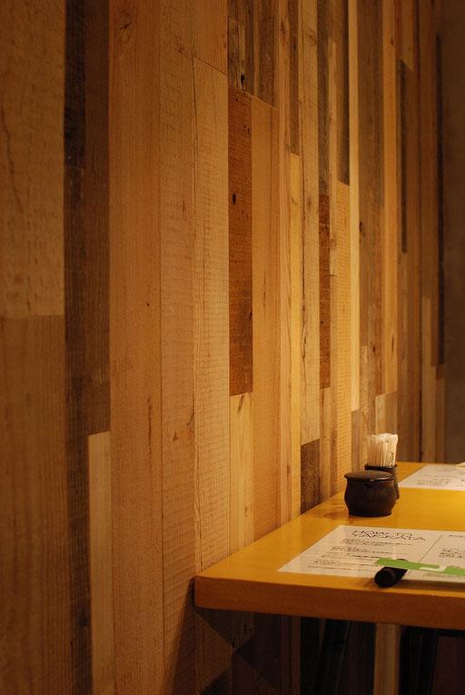 ビンテージボード  andwood アンドウッド 新潟 無垢フローリング 壁