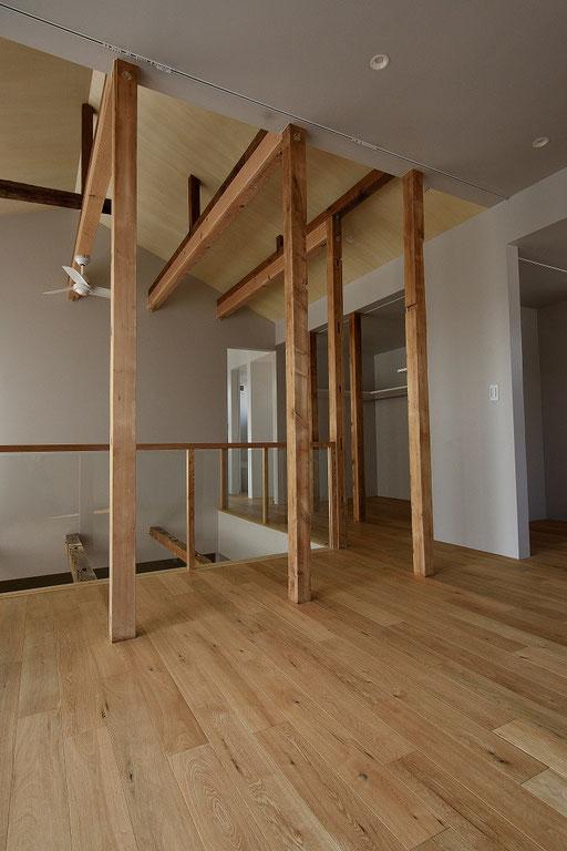 オーク 幅広 単板貼り 床暖房 施工例 アンドウッド andwood