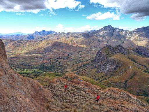 La vallée vue du sommet