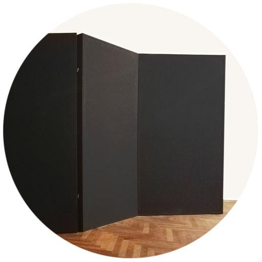 2 bis 4 Paravent-Elemente 180 x 180 cm