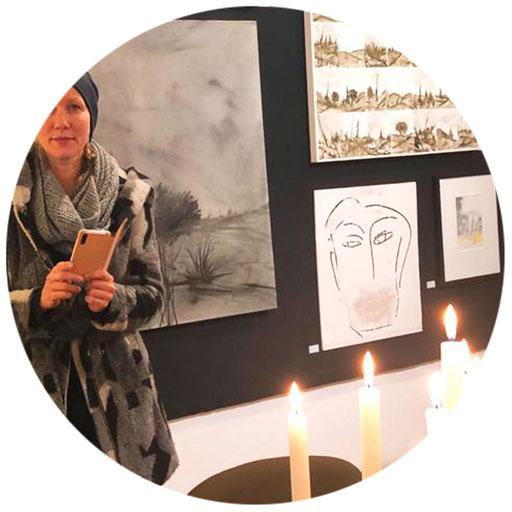 KUNSTwand(eln) | 2019 |  Kunstcafé SÜDPOL | Weitra | Vernissage: WarmUp am SÜDPOL | Werke: Dietz Axxl, Mardnli Judy, Schnabl Walter, manutober, Zinner Tatjana