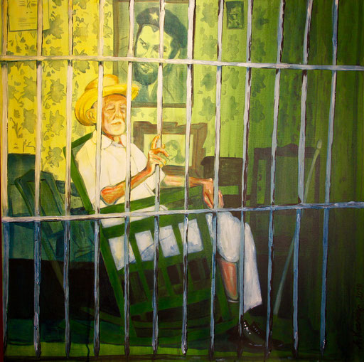 "Acryl auf Leinwand 100x100 ""Che Trinidad""              2009                           Privatsammlung"
