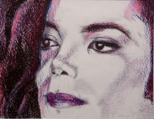 "Oelkreide auf Papier 80x60 Jackson ""Moments""                  2010"
