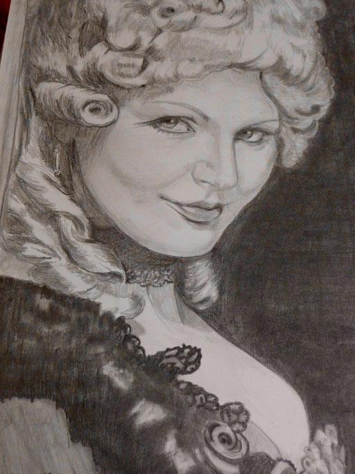 """Bleistift 56x42 """"Mona Lisa von Venedig""""                               2010"""