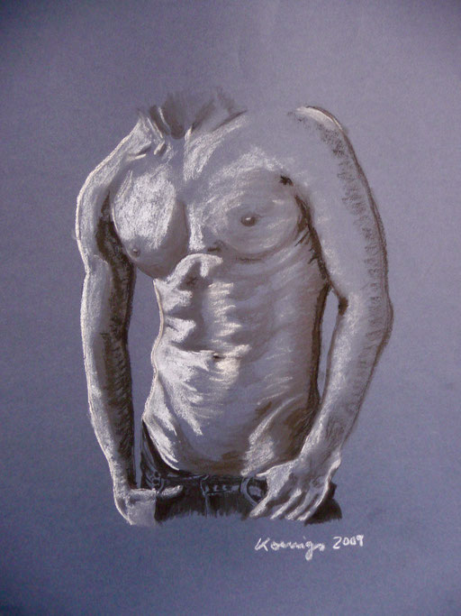 "Pastellkreide auf Karton     50x65   "" A&F Fifth Avenue""  2009"