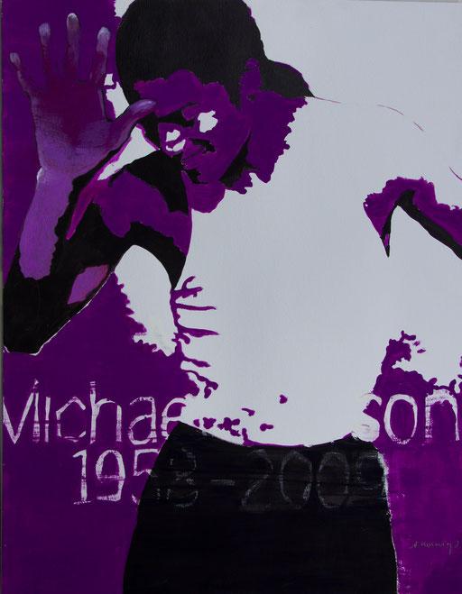 """Acryl auf Papier 50x65                   """"Tänzer""""                                2011          Jacksonserie"""