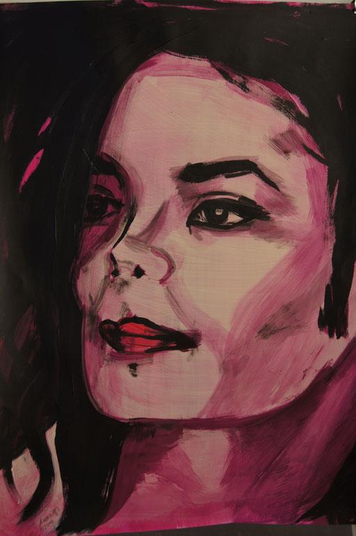 "Acryl auf Leinwand 40x55 Jackson ""Young and wild""             2010"
