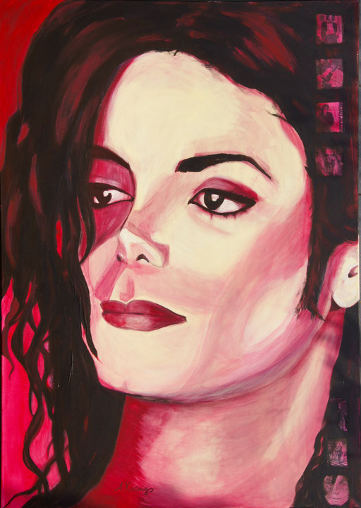 "Acryl und Collage auf Leinwand 100x140,  Jackson ""Jacko""   2011"